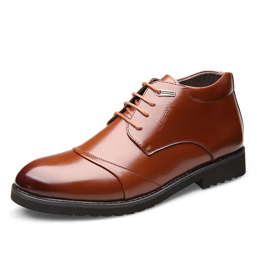 Low Heel With Velvet Lace Up Men's Oxfords