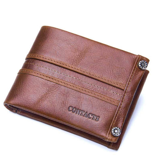 Genuine Leather Leisure Coin Purse Men's Wallets