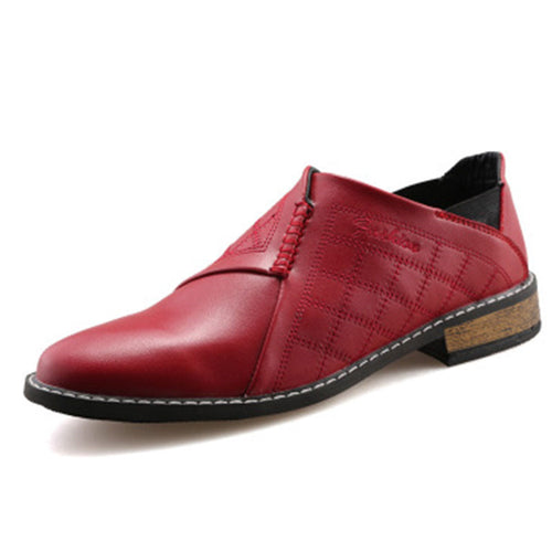 Leather Patchwork Point Toe Men's Formal Shoes