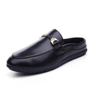 Metal Plain Breathable Men's Loafers