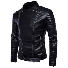Plain Stand Collar Casual European Punk Rock European Men's Jacket