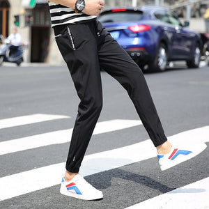 Lace-up Ankle-length Casual Pants