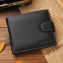Genuine Leather Short Paragraph Retro Men's Wallets