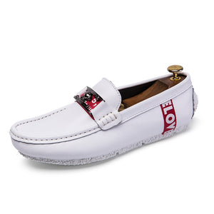 British Flat Bottom Shallow Mouth Men's Casual Shoes