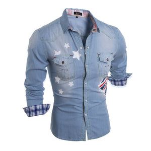 Denim Casual Long Sleeve Shirt
