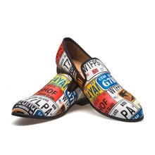 Breathable Patchwork Slip On Men's Oxfords