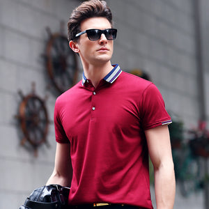 Solid Color Lapel T-shirt
