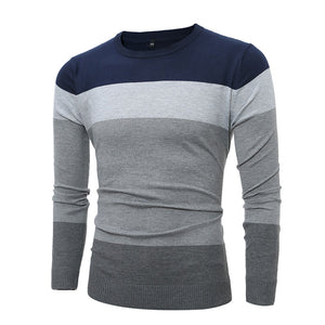 Color-blocked Oversize Pullover Casual Men's Sweater