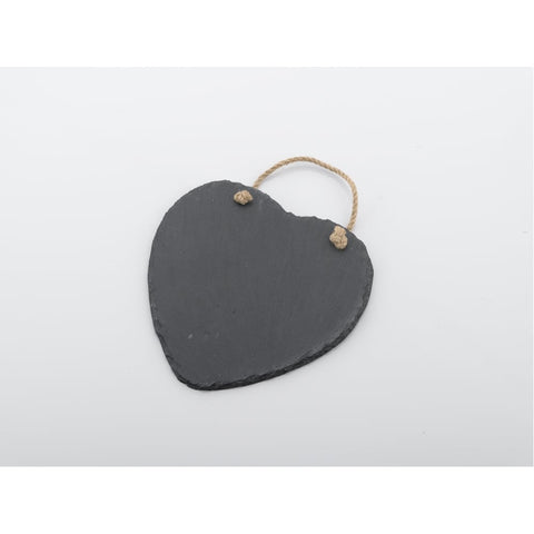 Natural Slate Chalkboard Heart 18cm