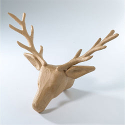 Paper Mache Wall Deer Head