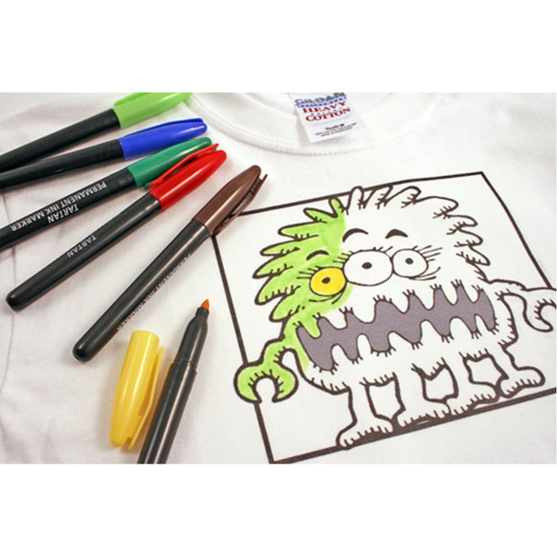 Print & Colour T-shirt Kit