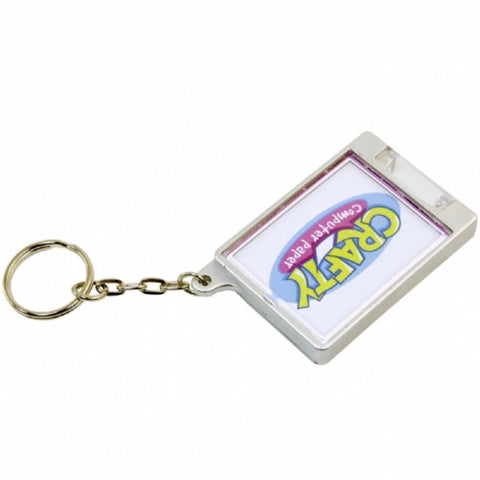 Snap-In Torch Keyring 35 x 45mm