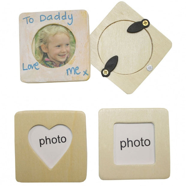 Wooden Magnet Photo Frames