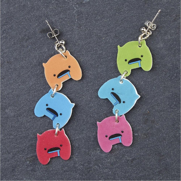 shrink paper 50% earrings craft making fun kids