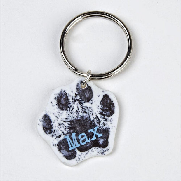 homemade keyring pet tags name badge