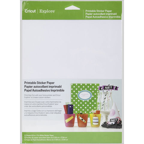 Cricut Explore Printable Sticker Paper A4