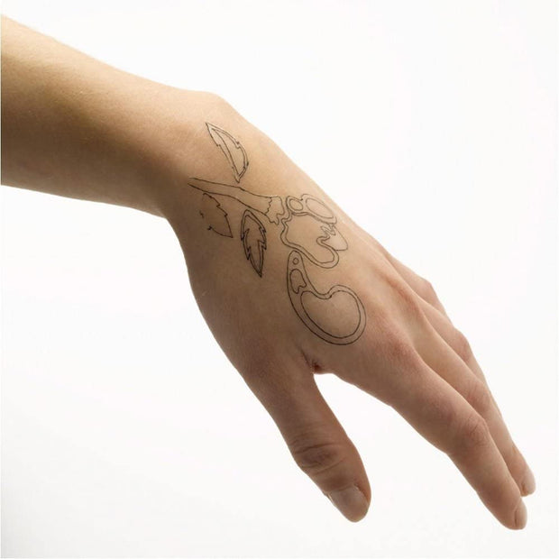 fun, fake transfer tattoos for the family, test a design of a tattoo before you have it done,