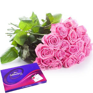 12 Roses & Cadbury's Celebration Box