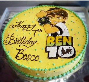 Send Ben10 cakes to Bangalore through The Pastry Inn