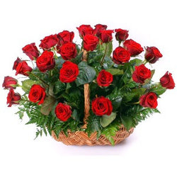 Basket of Roses to Bangalore