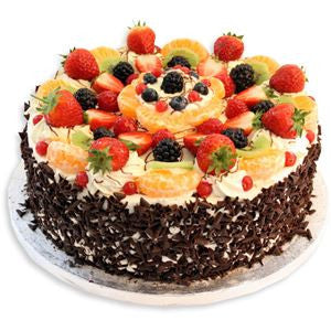 send exotic fruits cake to Bangalore through The Pastry Inn Bangalore