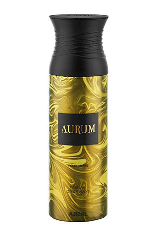 Buy original Ajmal Aurum Pour Femme Deodorant 200ml only at Perfume24x7.com