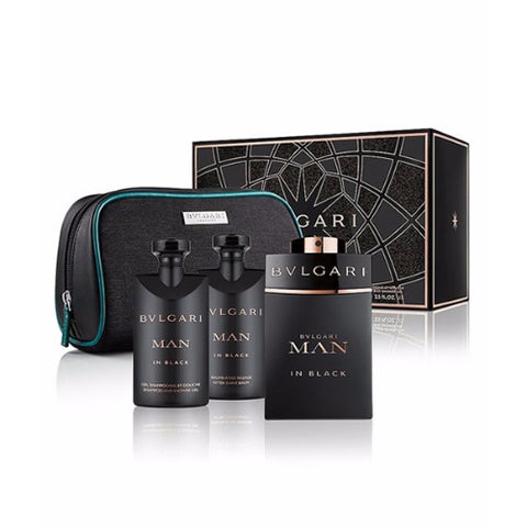 Buy original Bvlgari Man in Black EDP 125ml 4pc Gift Set For Men only at Perfume24x7.com