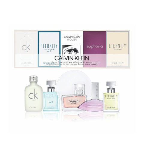 Buy original Calvin Klein 5pc Deluxe Travel Collection of Miniatures only at Perfume24x7.com