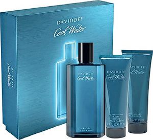 Davidoff Coolwater Men Edt 125ml 3pc Gift Set For Men