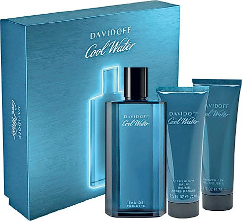 Buy original Davidoff Coolwater Men Edt 125ml 3pc Gift Set For Men only at Perfume24x7.com