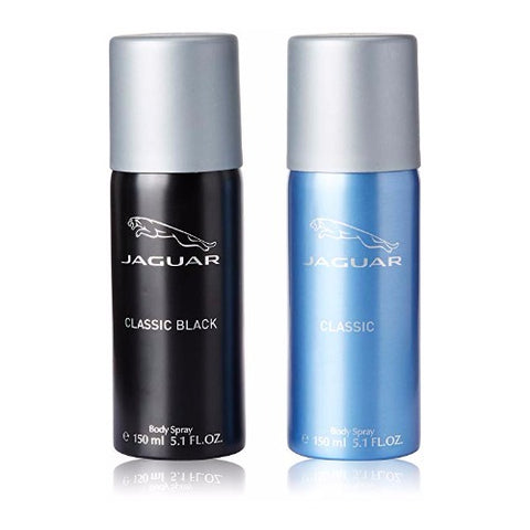 Buy original Jaguar Classic Black & Blue Deodorant For Men 150ml only at Perfume24x7.com