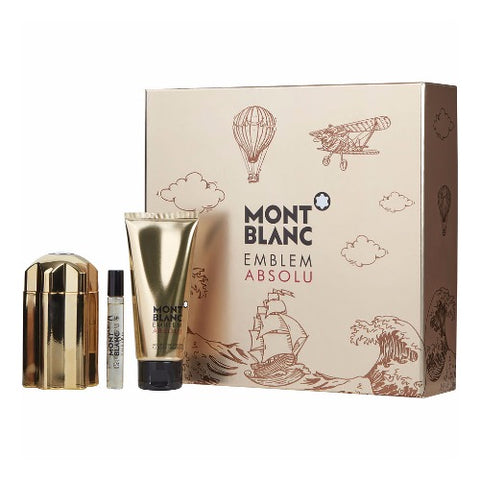Buy original Mont Blanc Emblem Absolu 100ml 3pc Gift Set For Men only at Perfume24x7.com
