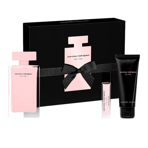 Narciso Rodriguez EDP For Her 3pc Gift Set 100ml