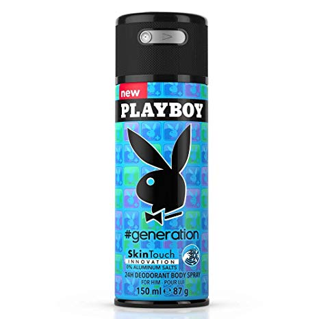 Buy original Playboy Generation Deodorant For Men 150ml only at Perfume24x7.com