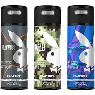 Buy original Playboy (Play it Wild + Hollywood + Generation) Deodorant For Men 150ml only at Perfume24x7.com
