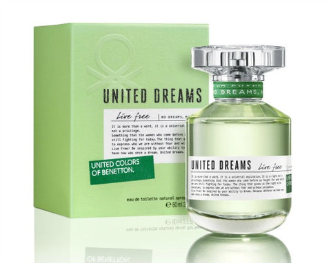 Buy original United Colors of Benetton United Dreams Live Free EDT For Women 80ml only at Perfume24x7.com
