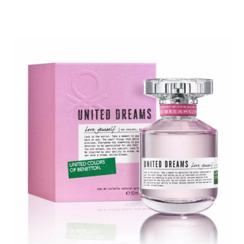 Buy original United Colors of Benetton United Dreams Love Yourself EDT For Women 80ml only at Perfume24x7.com