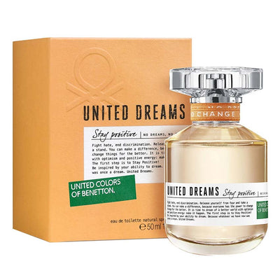 Buy original United Colors of Benetton United Dreams Stay Positive EDT For Women 80ml only at Perfume24x7.com
