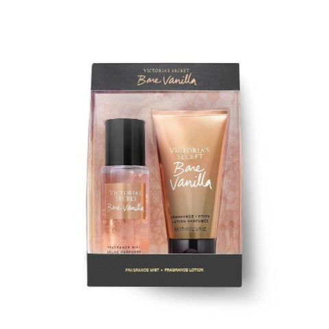 Buy original Victoria's Secret Bare Vanilla Fragrance Mist + Body Lotion Set 75ml only at Perfume24x7.com