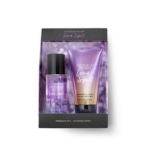 Buy original Victoria's Secret Love Spell Fragrance Mist + Body Lotion Set 75ml only at Perfume24x7.com