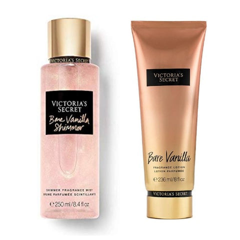 Buy original Victoria's Secret Bare Vanilla Shimmer Fragrance Mist & Lotion Combo only at Perfume24x7.com