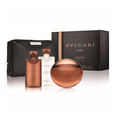 Buy original Bvlgari Aqua Amara Edt 100ml 3pc + Pouch Gift Set only at Perfume24x7.com
