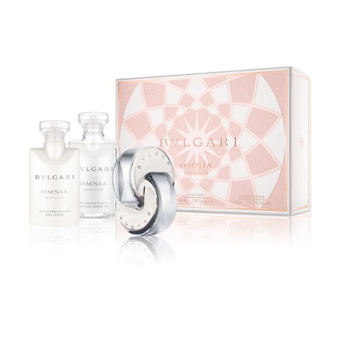 Buy original Bvlgari Omnia Crystalline Edt 40ml + Body Lotion 40ml + Shower Gel 40ml only at Perfume24x7.com