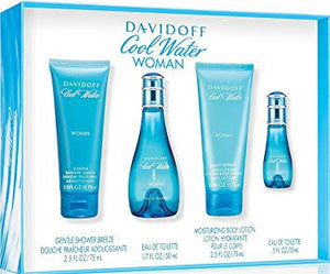 Davidoff Coolwater Edt 100ml 4pc Gift Set For Women - Perfume24x7.com