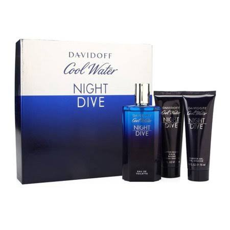 Davidoff Coolwater Night Dive Edt 125ml 3pc Gift Set For Men - Perfume24x7.com