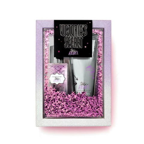 Buy original Victoria's Secret Tease Rebel Fragrance Mist + Body Lotion Gift Set only at Perfume24x7.com