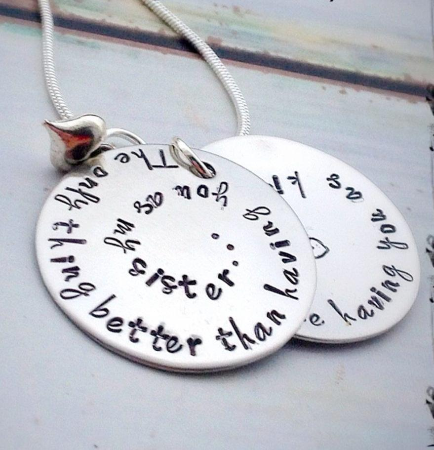 gift jewelry sister sierrametaldesign aunt pin law in auntie by necklace for