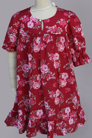 Princess Orchid Country French Red Dress