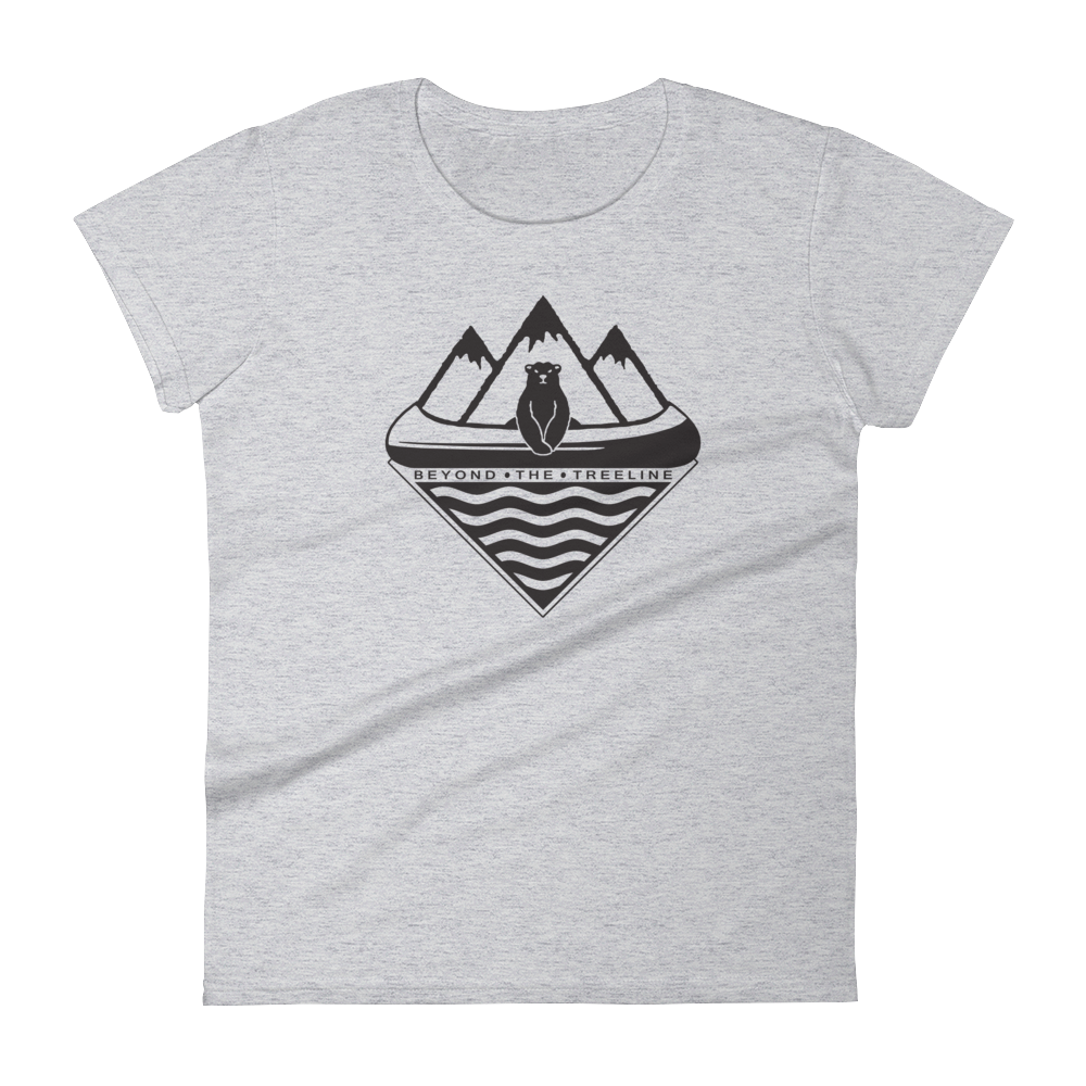 Canoe Bear Ladies Tee - Beyond The Treeline Clothing - Hiking, Mountains, Camping, Outdoors, Shirts, Hoodie