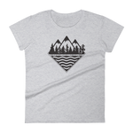 Treeline Ladies Tee - Beyond The Treeline Clothing - Hiking, Mountains, Camping, Outdoors, Shirts, Hoodie